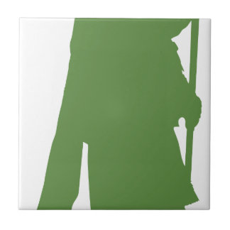 Pipe Band Leader Silhouette Ceramic Tile