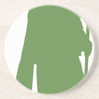 Pipe Band Leader Silhouette Drink Coaster