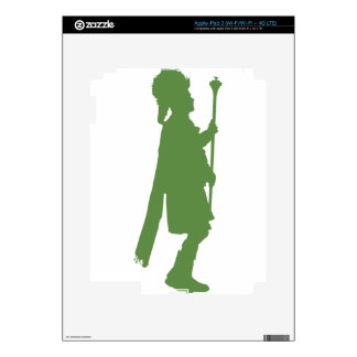 Pipe Band Leader Silhouette iPad 3 Skin