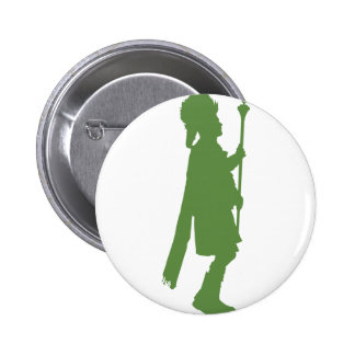 Pipe Band Leader Silhouette Pinback Button
