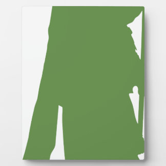 Pipe Band Leader Silhouette Plaque