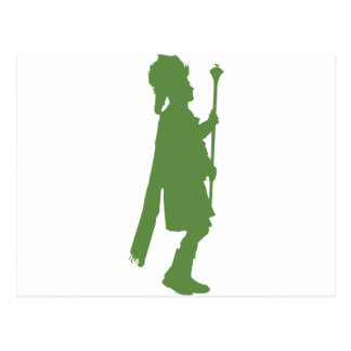 Pipe Band Leader Silhouette Postcard