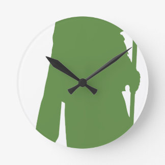 Pipe Band Leader Silhouette Round Clock