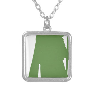 Pipe Band Leader Silhouette Silver Plated Necklace