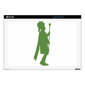 """Pipe Band Leader Silhouette Skin For 17"""" Laptop"""