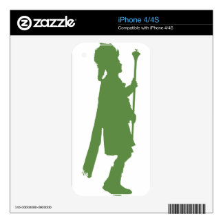 Pipe Band Leader Silhouette Skins For iPhone 4S