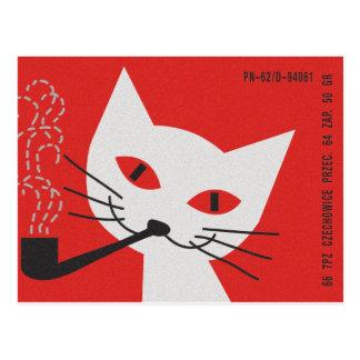 Pipe Cat Postcard