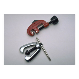 Pipe cutter and reamer 5x7 paper invitation card
