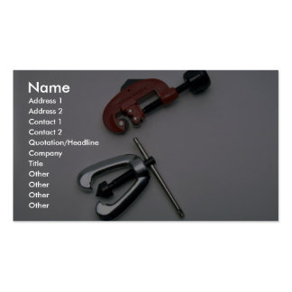 Pipe cutter and reamer Double-Sided standard business cards (Pack of 100)