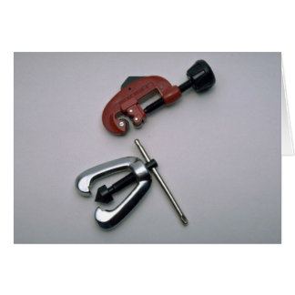 Pipe cutter and reamer greeting card