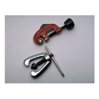 Pipe cutter and reamer postcard
