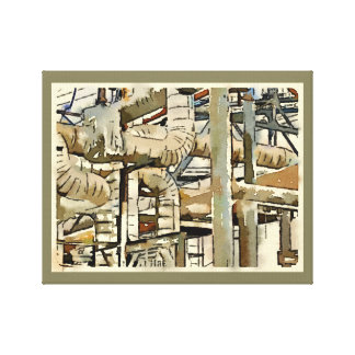 """Pipe Dreams"" Watercolored Photo Wrapped Canvas"