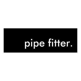 pipe fitter. business card template