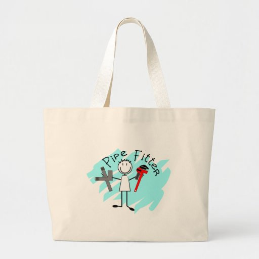 Pipe Fitter Stick Man Canvas Bag