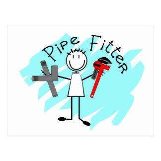 Pipe Fitter Stick Man Postcard