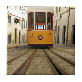 Pipe Funicular railway, Lisbon, Portugal Tile
