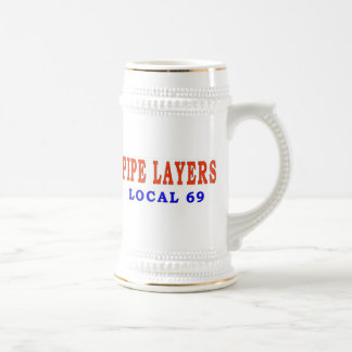 PIPE LAYERS 18 OZ BEER STEIN