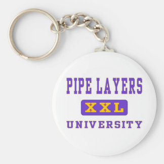 PIPE LAYERS BASIC ROUND BUTTON KEYCHAIN