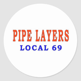 PIPE LAYERS CLASSIC ROUND STICKER