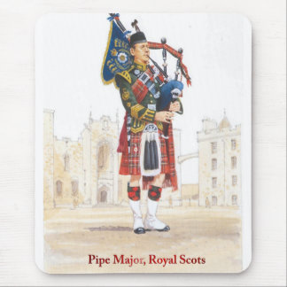 Pipe Major, Royal Scots Guards Mouse Pad