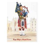 Pipe Major, Royal Scots Postcard