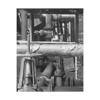 Pipe Network Canvas Print
