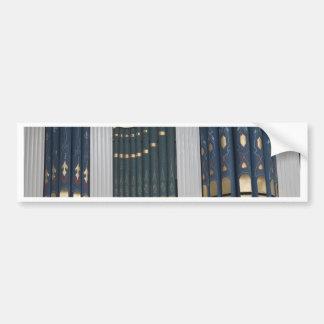 Pipe organ bumper stickers
