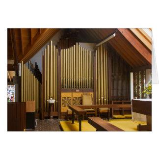 Pipe organ, Christchurch Card