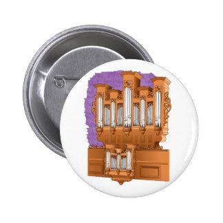 Pipe Organ, Church Organ Graphic Brown Buttons