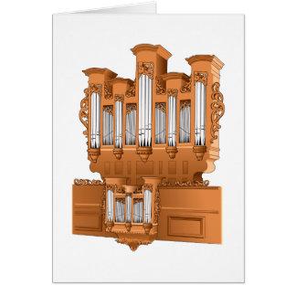 Pipe Organ, Church Organ Graphic Brown Card
