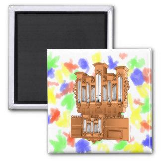 Pipe Organ, Church Organ Graphic Brown Magnet