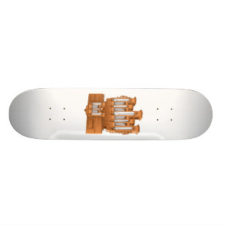 Pipe Organ, Church Organ Graphic Brown Skateboard