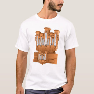Pipe Organ, Church Organ Graphic Brown T-Shirt