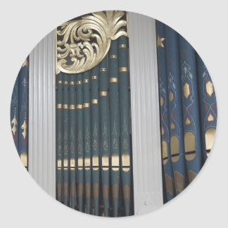 Pipe organ classic round sticker