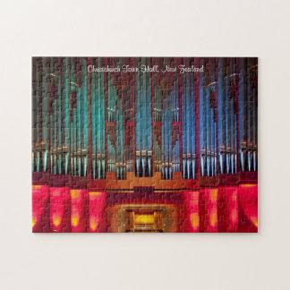 Pipe organ colourful puzzle