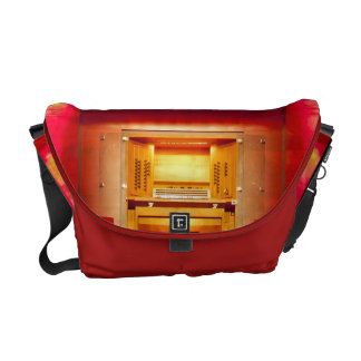 Pipe organ console and pipes messenger bag