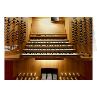 Pipe organ console cards