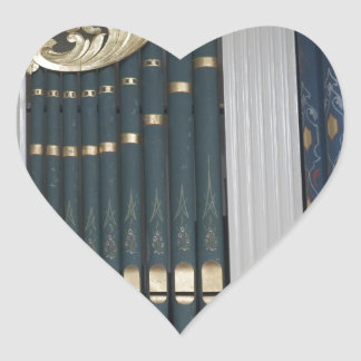 Pipe organ heart sticker