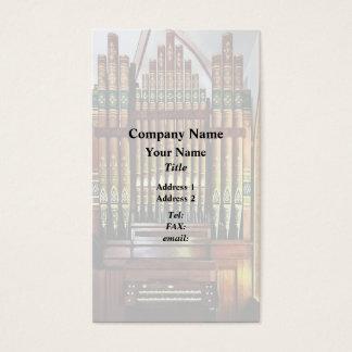 Pipe Organ In Church Business Card