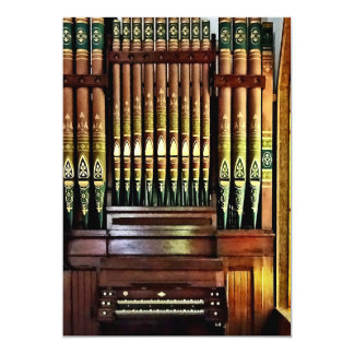 Pipe Organ In Church Card