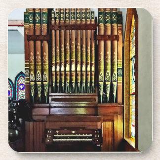 Pipe Organ In Church Drink Coaster