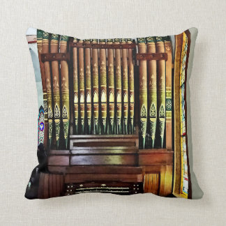 Pipe Organ In Church Throw Pillow