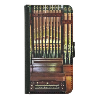 Pipe Organ In Church Wallet Phone Case For Samsung Galaxy S5