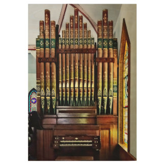 Pipe Organ In Church Wood Poster