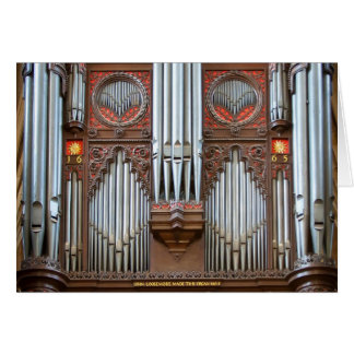Pipe organ in Exeter Cathedral Card