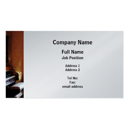 Pipe Organ in Living Room - Platinum Finish Business Card