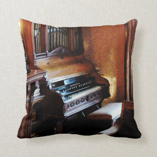 Pipe Organ in Living Room Throw Pillow
