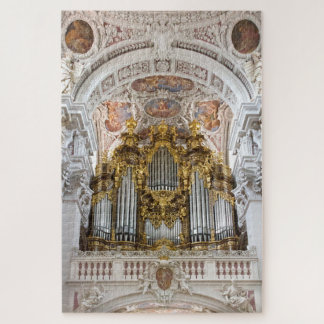 Pipe organ in Passau Cathedral, Germany Jigsaw Puzzle