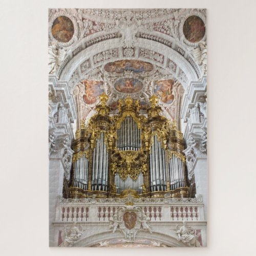 Pipe organ in Passau Cathedral Germany Jigsaw Puzzle