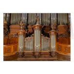 Pipe organ in Sarlat Cathedral, France Greeting Card